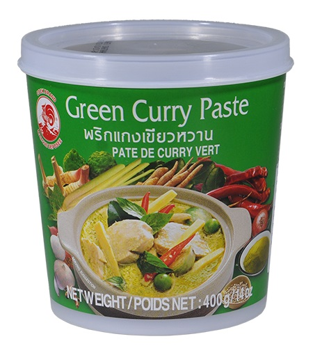 Green curry paste - Cock Brand 400 gr.